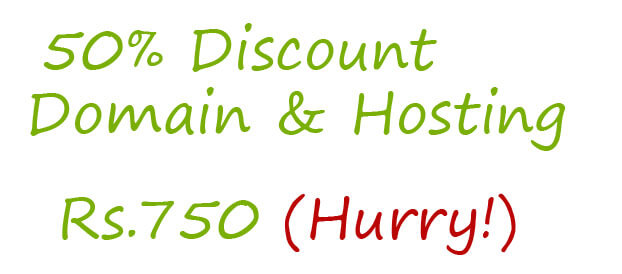 50% Discount on Domain+Hosting