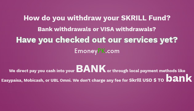 how you withdraw skrill fund